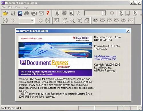 интерфейс программы Djvu Editor